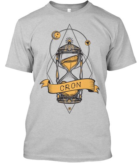 Cron Light Steel T-Shirt Front