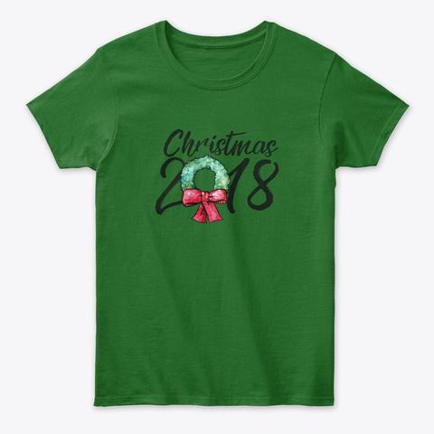Christmas 2018 Family Holidays  Irish Green T-Shirt Front