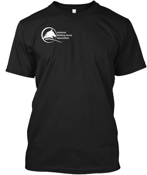 National Walking Horse Association Black T-Shirt Front