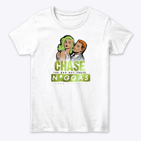 Bag Chase White T-Shirt Front