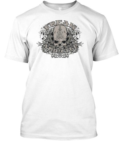 Freak Addict Skull White T-Shirt Front