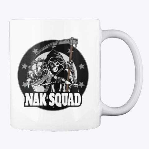 Nak Squad Logo Mug White T-Shirt Back