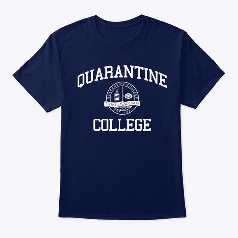 Quarantine College Navy T-Shirt Front