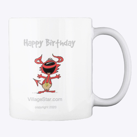 Kate &Amp; Bub Birthday Hot Drink Cup White T-Shirt Back
