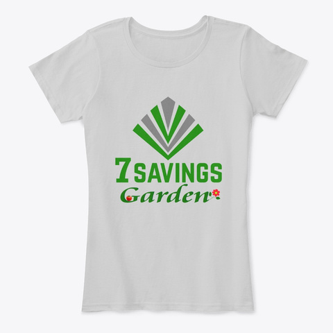7 Savings Garden  Light Heather Grey T-Shirt Front