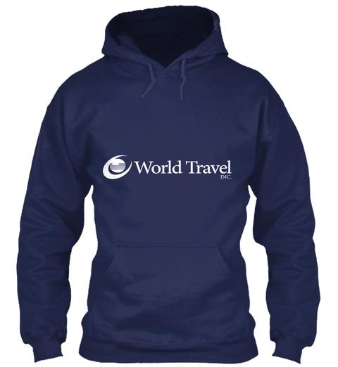 World Travel Navy Sweatshirt Front