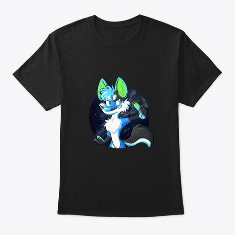 Xusho Wolf Thumb Up  Black T-Shirt Front