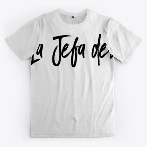 Minimalism Black Collection La Jefa Standard T-Shirt Front
