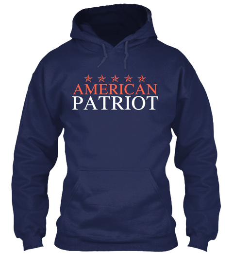 American Patriot Navy T-Shirt Front