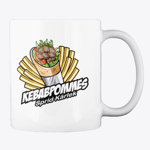 Kebabpommes Mug White T-Shirt Back