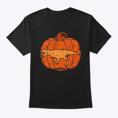 Halloween T Rex For Boys Kids Dinosaur L Black T-Shirt Front
