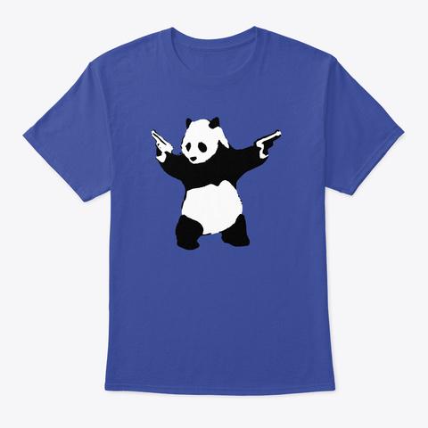 Banksy Panda With Guns Deep Royal T-Shirt Front