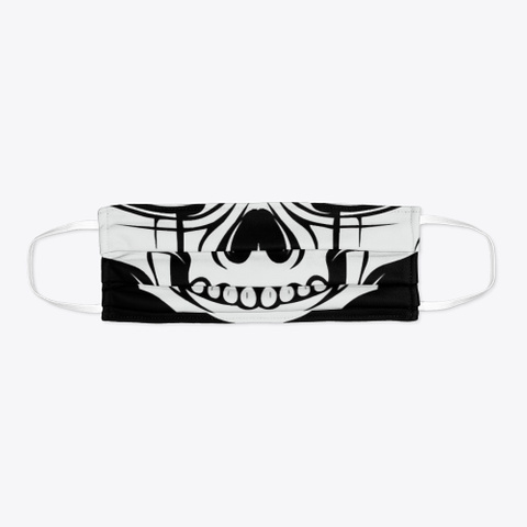 Fanged Skull Face Mask Mask Standard T-Shirt Flat
