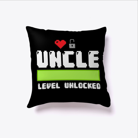 Uncle Level Unlocked Gamer Black T-Shirt Front