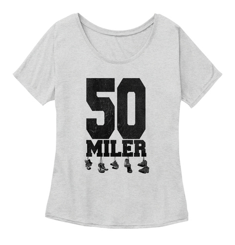 50 Miler Athletic Heather T-Shirt Front