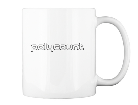 Polycount White Mug Back