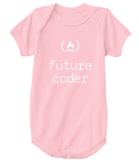Future Coder Pink T-Shirt Front