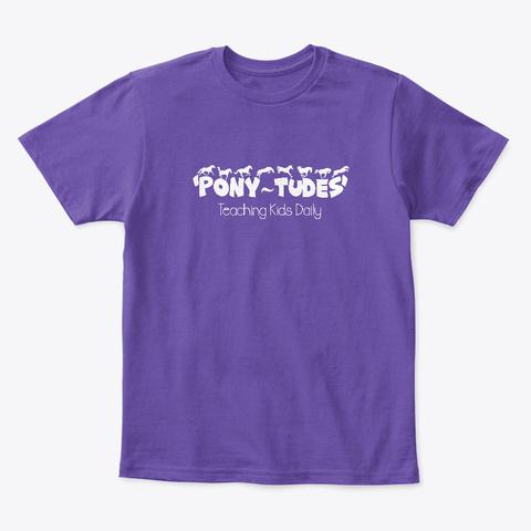 Pony Tudes Purple  T-Shirt Front