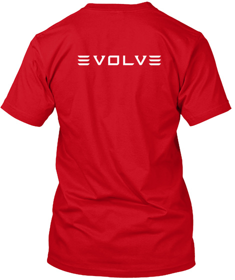 Model X Evolve By Mad Hungarian Red T-Shirt Back