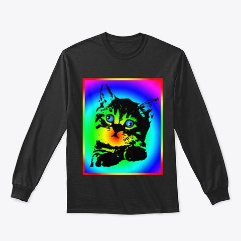 Crazy Cat Vuaiu Black T-Shirt Front