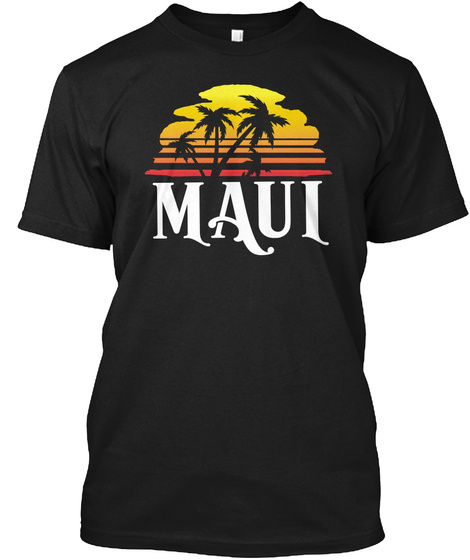 Maui Black T-Shirt Front