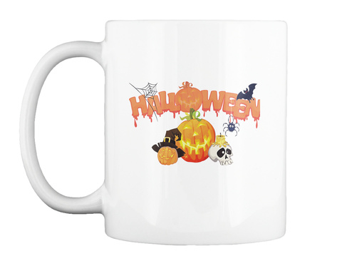 Halloween Coffee Mug Tea Cup White T-Shirt Front