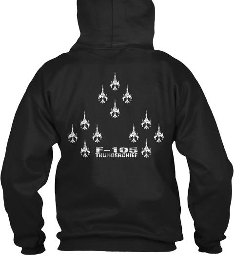 F 105 Thunderchief Black T-Shirt Back