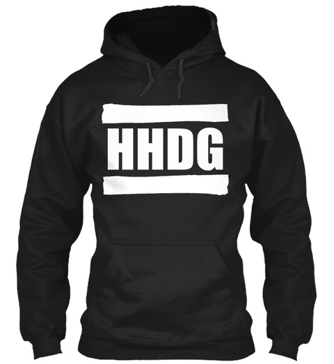 2020 Hhdg Media Inc Hoodie Black T-Shirt Front