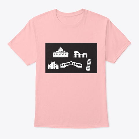 Monuments Of Italy Pale Pink T-Shirt Front