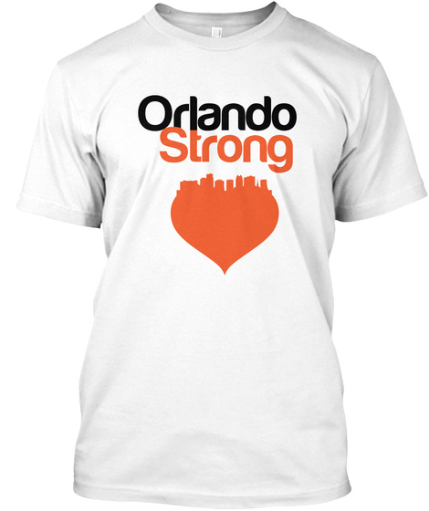 Orlando Strong Pulse White T-Shirt Front