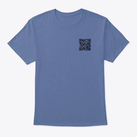 Rick Roll Denim Blue T-Shirt Front