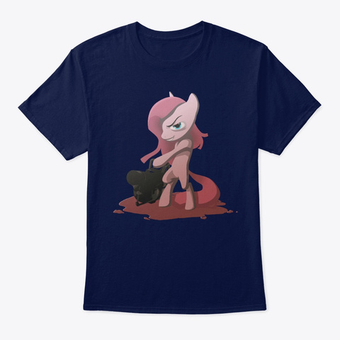 Pinked Navy T-Shirt Front