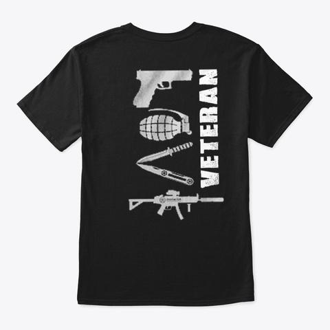 Veteran   Soldier   Military   Vet   249 Black T-Shirt Back