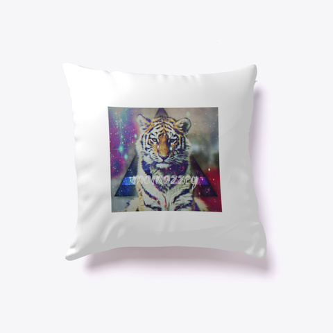 Tiger Pillow White T-Shirt Front