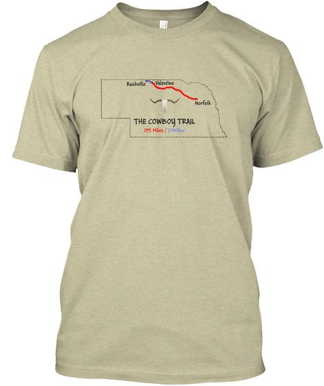 The Cowboy Trail Map T Shirt Oatmeal T-Shirt Front