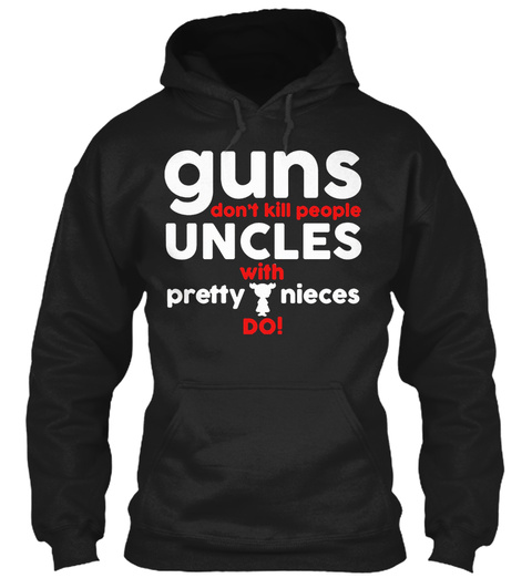Funcle   Best Uncle Ever. Black T-Shirt Front