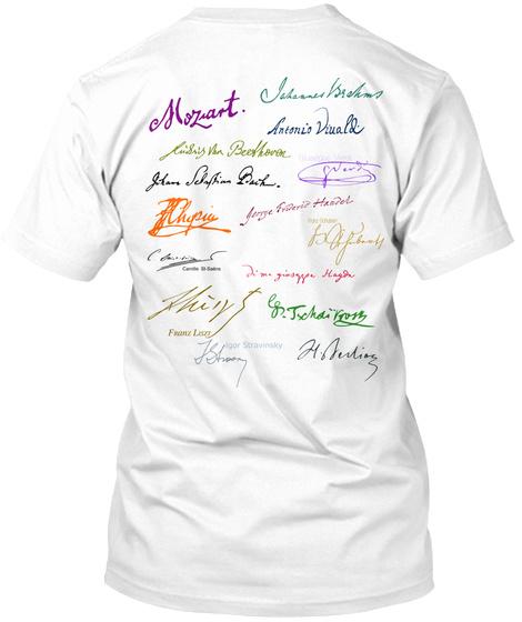Moziart White T-Shirt Back