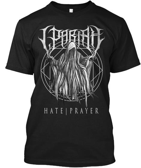Hate | Prayer Black T-Shirt Front