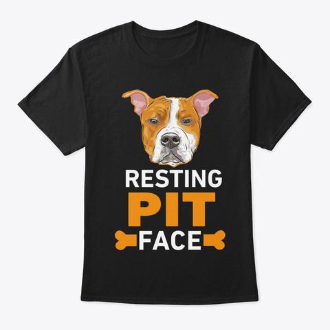 Resting Pit Face Black T-Shirt Front