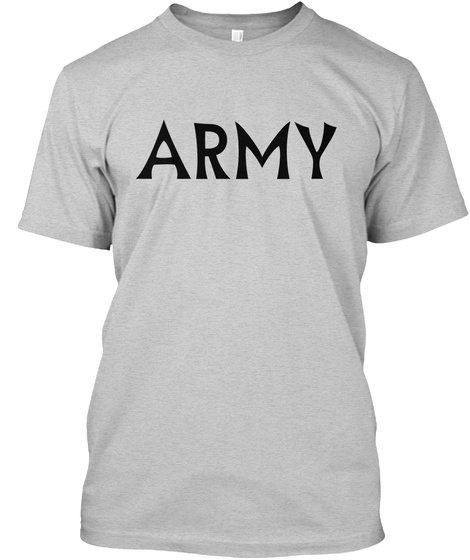 Army Light Steel T-Shirt Front