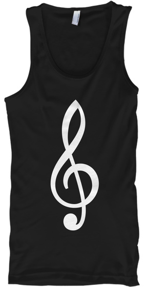 Treble Tank Top Black T-Shirt Front