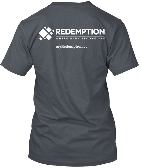 Redemption Where Many Become One My Redemption.Cc Heavy Metal T-Shirt Back