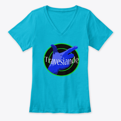 Travesiando Turquoise T-Shirt Front