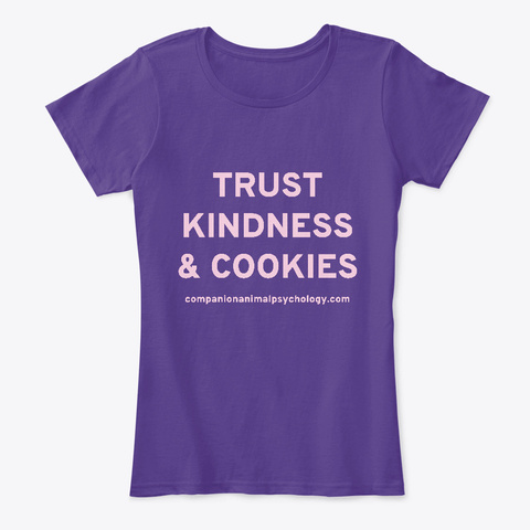Trust Kindness And Cookies Purple T-Shirt Front