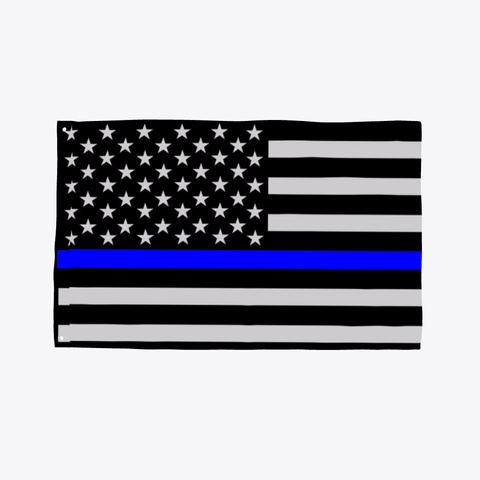 Thin Blue Line Police Flag Standard T-Shirt Front