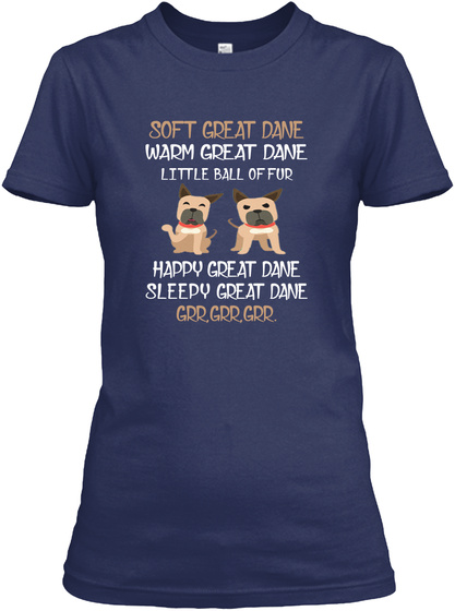 Love With My Great Dane Navy T-Shirt Front
