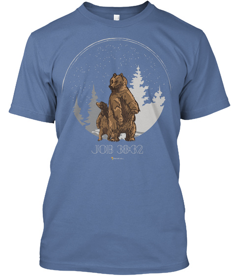 Lead Out The Bear Denim Blue T-Shirt Front