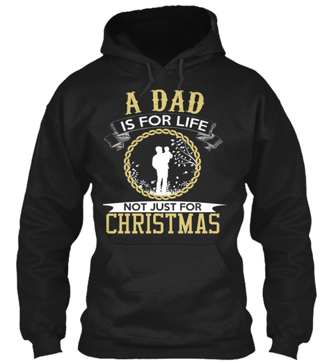 Christmas Dad Black T-Shirt Front