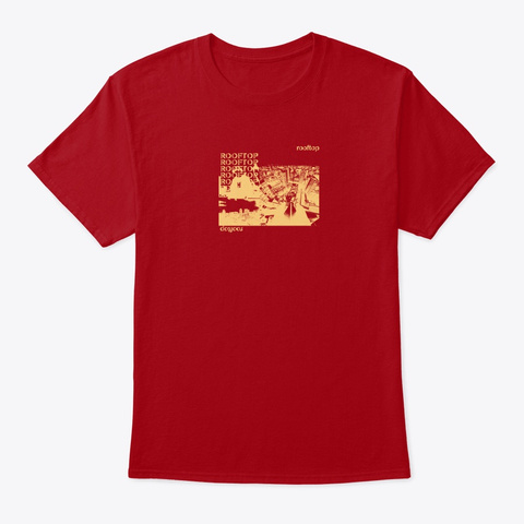 Rooftop O.Lku Iv Deep Red T-Shirt Front