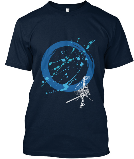 Voyager Probe Blue New Navy T-Shirt Front